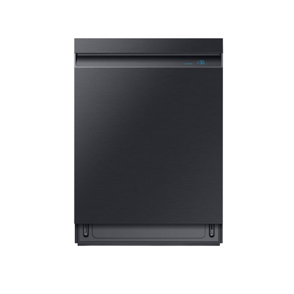 "Samsung - Linear Wash 24"" Top Control Built In Dishwasher with Stainless Steel Tub - Fingerprint Resistant Black Stainless Steel - Appliances Club"