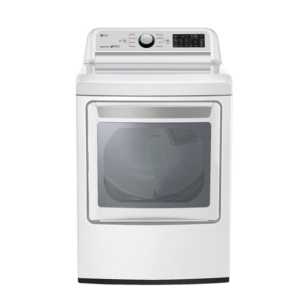 LG - 7.3 Cu. Ft. 9 Cycle Electric Dryer - White - Appliances Club
