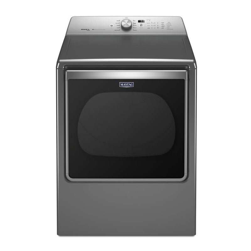 Maytag - 8.8 cu. ft. Electric Dryer - Metallic Slate