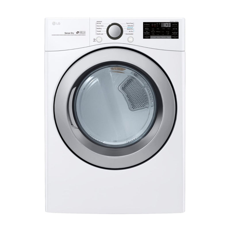 LG - 7.4 cu. ft. Ultra Large Capacity Smart wi-fi Enabled Electric Dryer - White