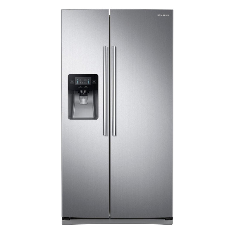 Samsung - 24.5 Cu. Ft. Side by Side Refrigerator with Thru the Door Ice and Water - Stainless steel