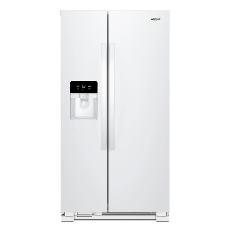 Whirlpool - 25 cu. ft. Side by Side Refrigerator - White - Appliances Club