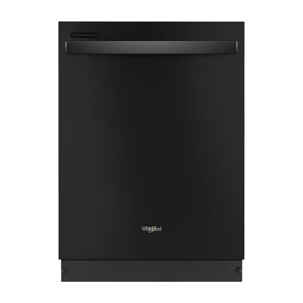 "Whirlpool - 24"" Tall Tub Built In Dishwasher - Black - Appliances Club"