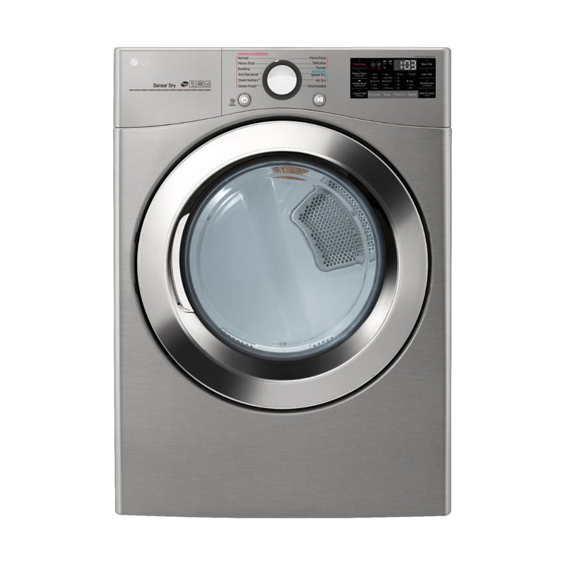 LG - 7.4 Cu. Ft. 12 Cycle Smart Wi-Fi Electric SteamDryer Sensor Dry and TurboSteam - Graphite Steel - Appliances Club
