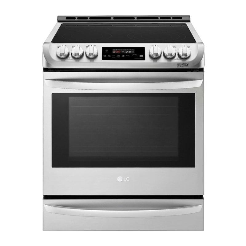 LG - 6.3 Cu. Ft. Self Cleaning Slide In Electric Smart Wi-Fi Range with ProBake Convection - Stainless steel - Appliances Club