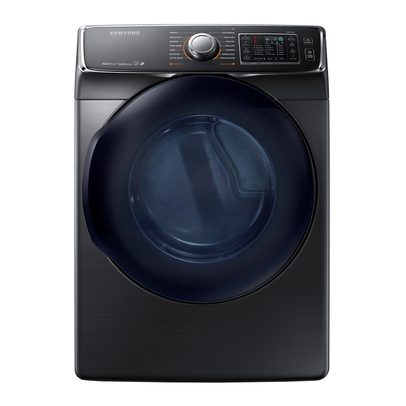Samsung - 7.5cu. ft.Gas Dryer in Black Stainless Steel - Fingerprint Resistant Black Stainless Steel