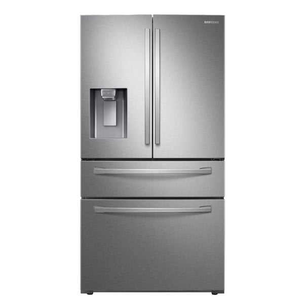 Samsung - 27.8 cu. ft. 4 Door French Door Refrigerator with Food Showcase - Fingerprint Resistant Stainless Steel - Appliances Club