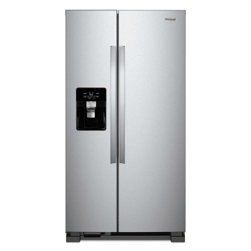 Whirlpool - 25 cu. ft. Side by Side Refrigerator - Fingerprint Resistant Stainless Steel - Appliances Club