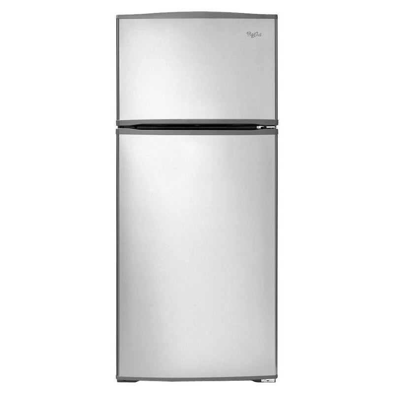 Whirlpool - 16 cu. ft. Top Freezer Refrigerator - Monochromatic Stainless Steel - Appliances Club