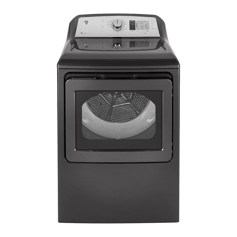 GE - 7.4 Cu. Ft. 12 Cycle Electric Dryer - Diamond Gray