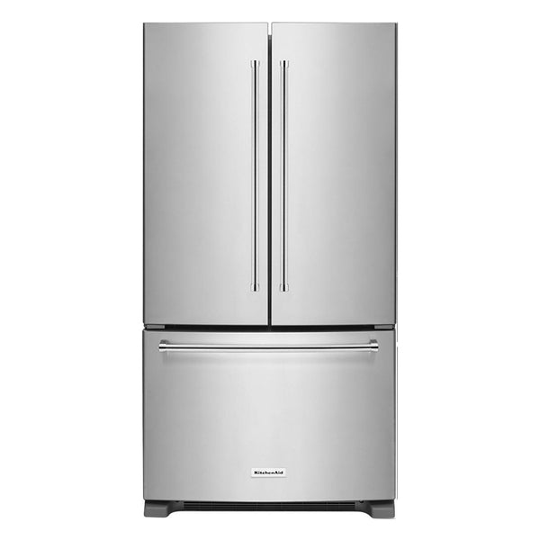 KitchenAid - 20 Cu. Ft. French Door Counter Depth Refrigerator - Stainless steel - Appliances Club