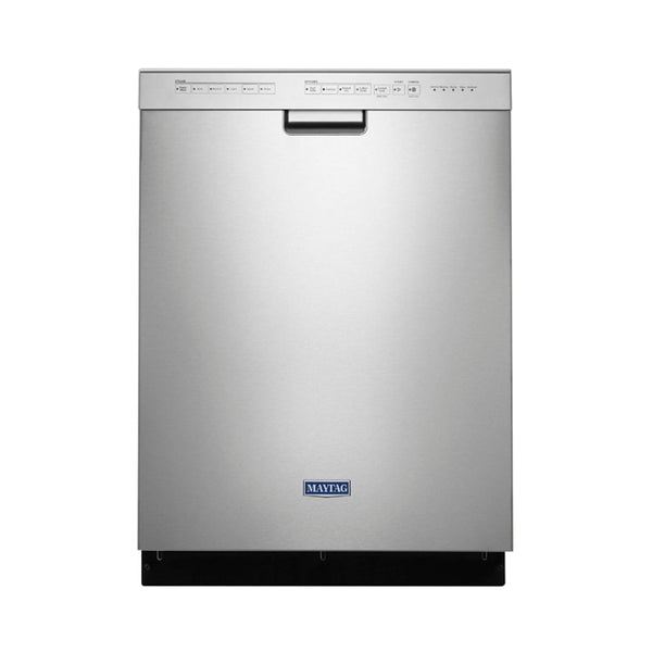 "Maytag - 24"" Front Control Built In Dishwasher with Stainless Steel Tub - Appliances Club"