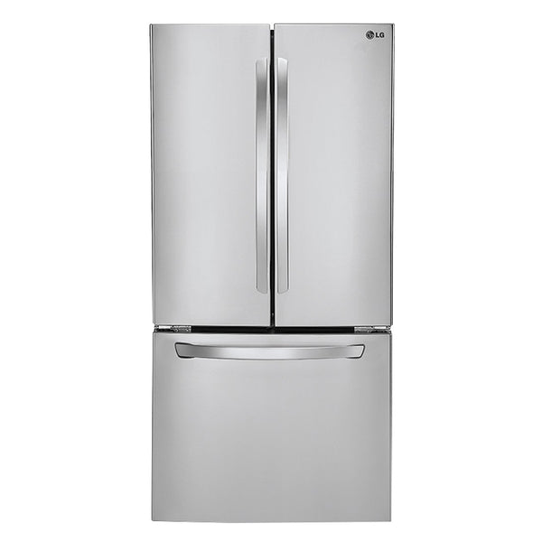 LG - 21.6 Cu. Ft. French Door Refrigerator - Stainless steel - Appliances Club