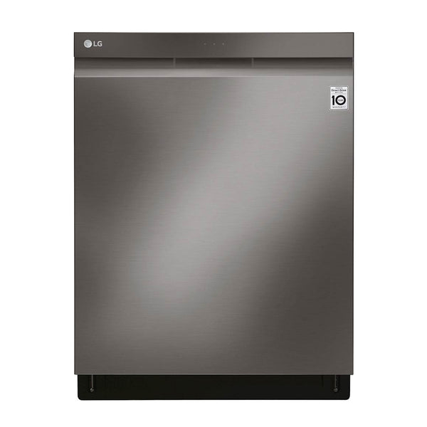 "LG - 24"" Top Control Built In Dishwasher with TrueSteam and Third Rack - Black Stainless Steel"
