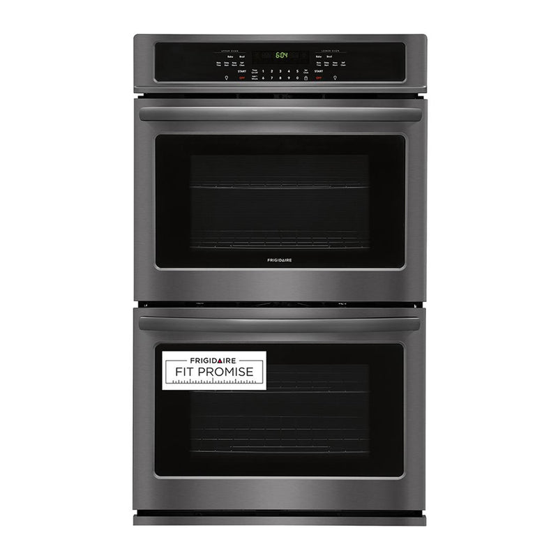"Frigidaire - 30"" Built In Double Electric Wall Oven - Black stainless steel - Appliances Club"