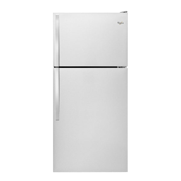 Whirlpool - 18.2 Cu. Ft. Top Freezer Refrigerator - Monochromatic Stainless Steel