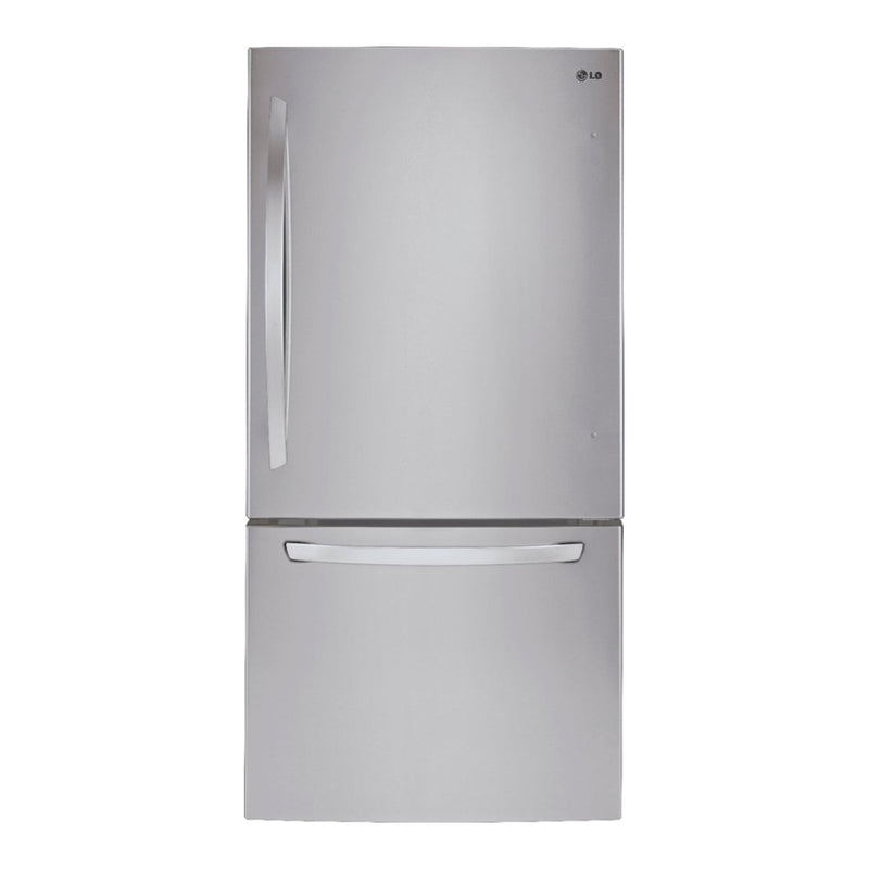"LG - 33"" Wide Large Capacity Bottom Freezer Refrigerator - Stainless steel"