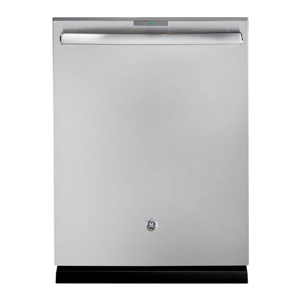 "GE - 24"" Hidden Control Tall Tub Built In Dishwasher with Stainless Steel Tub - Stainless steel"