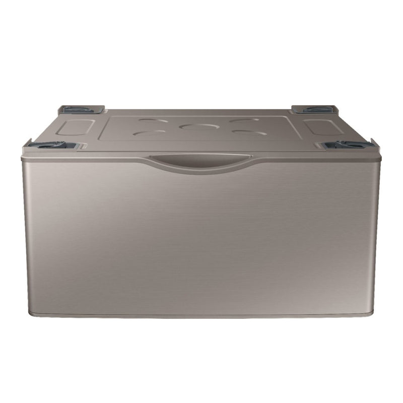 "Samsung - 27"" Washer/Dryer Laundry Pedestal with Storage Drawer - Champagne"