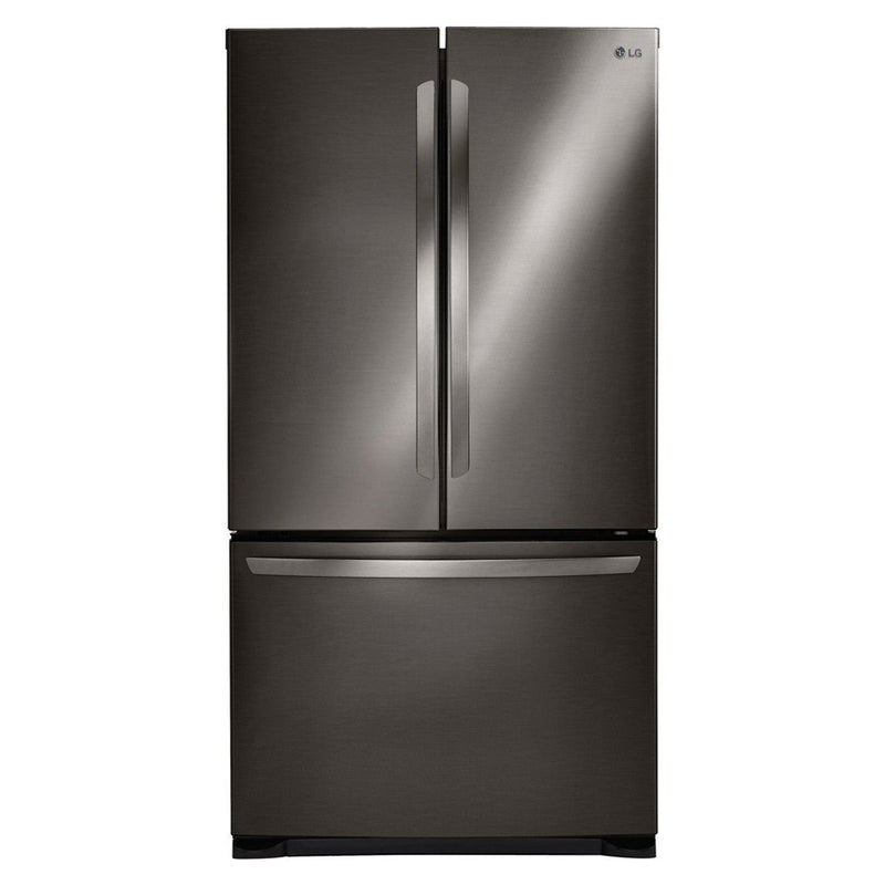 LG - 25.4 Cu. Ft. French Door Refrigerator - Black stainless steel - Appliances Club