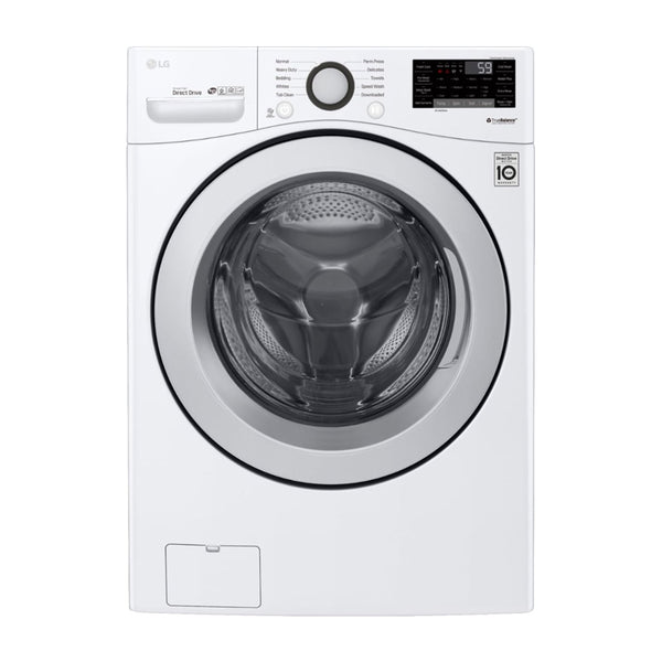 LG - 4.5 cu. ft. Ultra Large Smart wi-fi Enabled Front Load Washer - White