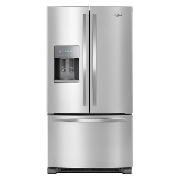 Whirlpool - 25 cu. ft. French Door Refrigerator - Fingerprint Resistant Stainless Steel - Appliances Club
