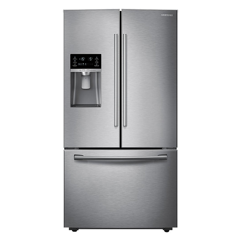 Samsung - 22.5 Cu. Ft. French Door Counter Depth Refrigerator - Stainless steel