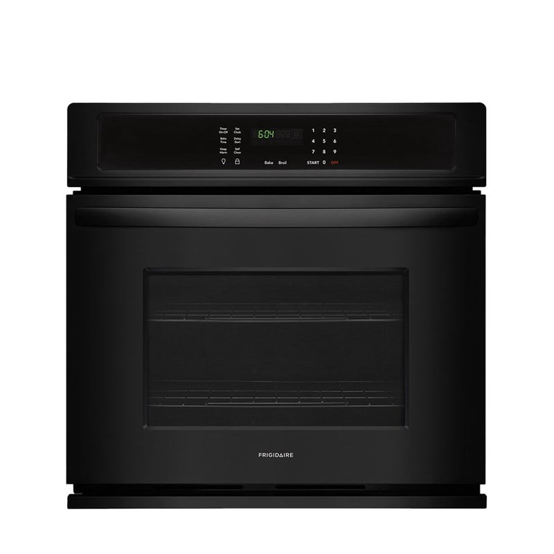 "Frigidaire - 30"" Built In Single Electric Wall Oven - Black - Appliances Club"