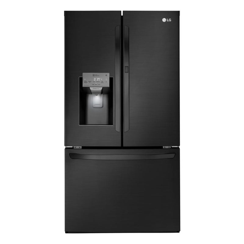 LG - 27.7 Cu. Ft. French Door in Door Smart Wi-Fi Enabled Refrigerator - Matte Black Stainless Steel