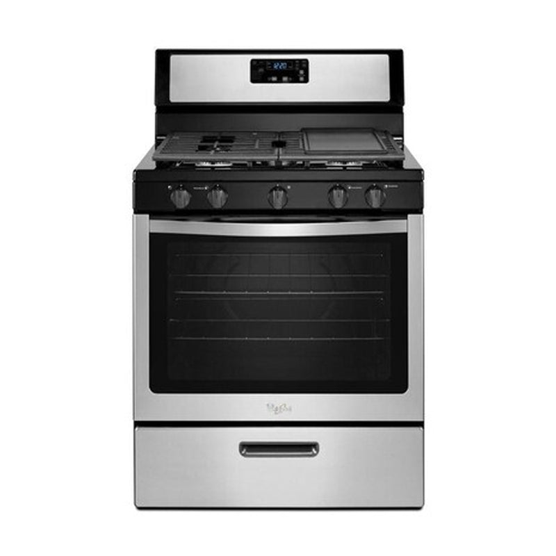 Whirlpool - 5.1 Cu. Ft. Freestanding Gas Range - Stainless steel - Appliances Club