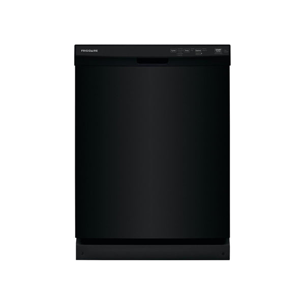 "Frigidaire - 24"" Front Control Tall Tub Built-In Dishwasher - Black - Appliances Club"