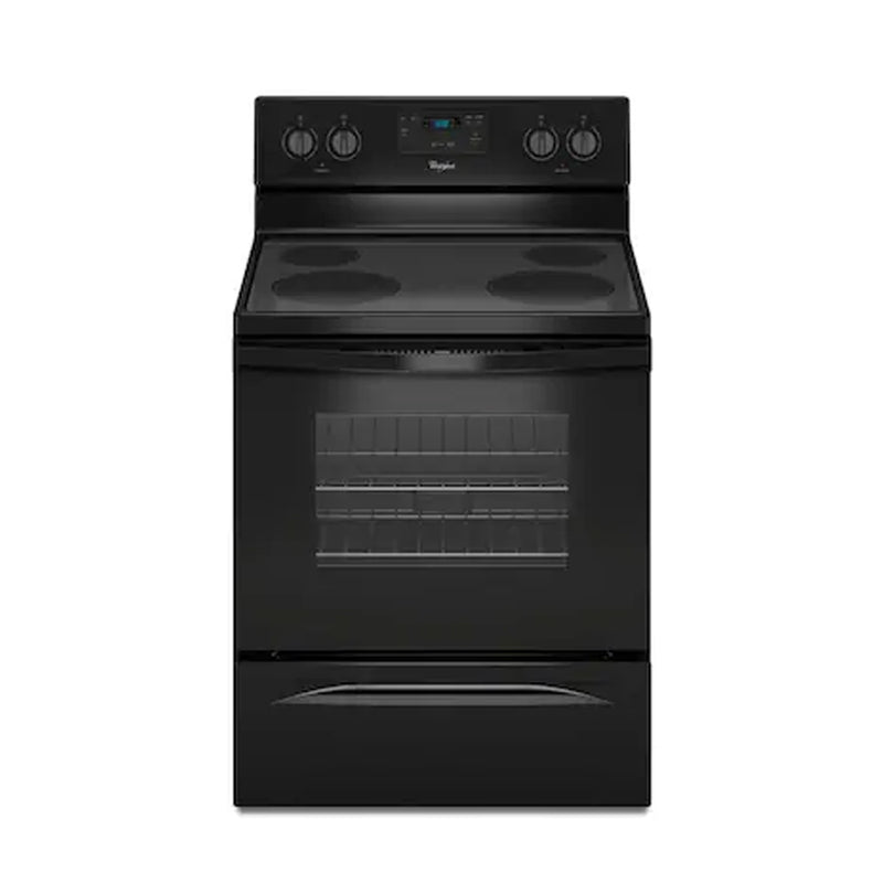 Whirlpool - 4.8 Cu. Ft. Freestanding Electric Range - Black - Appliances Club