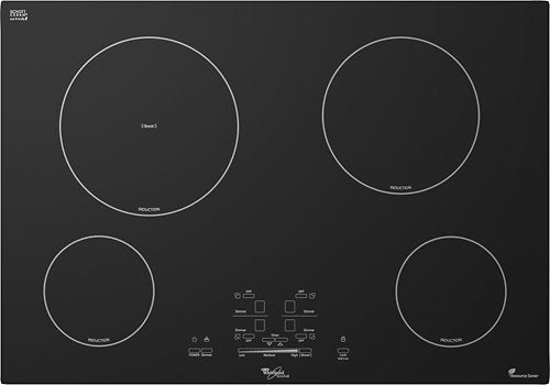 "Whirlpool - 30"" Built-In Electric Induction Cooktop - Black"