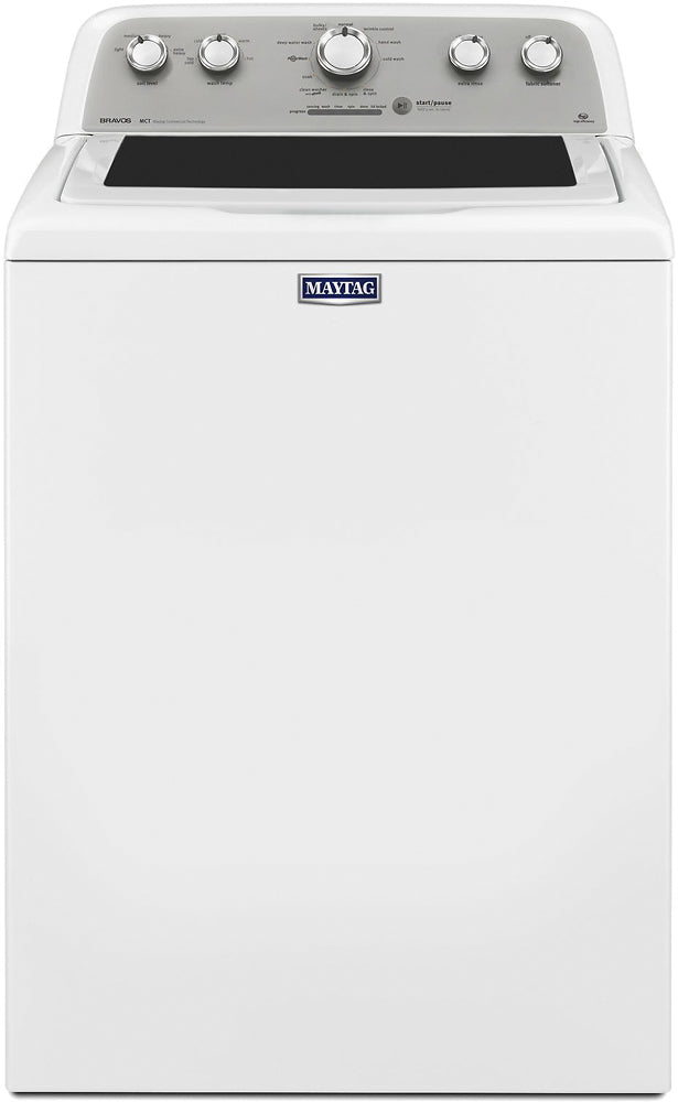 Maytag - 4.3 Cu. Ft. 11-Cycle High-Efficiency Top-Loading Washer - White