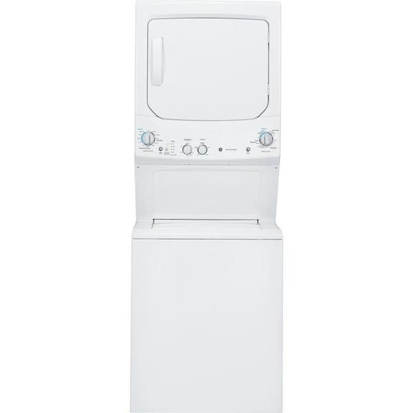 GE - Electric Stacked Laundry Center with 3.8-cu ft Washer and 5.9-cu ft Dryer - White