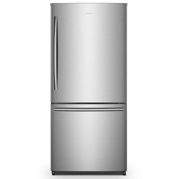 Hisense - 17.1-cu ft Counter-depth Bottom-Freezer Refrigerator - Silver