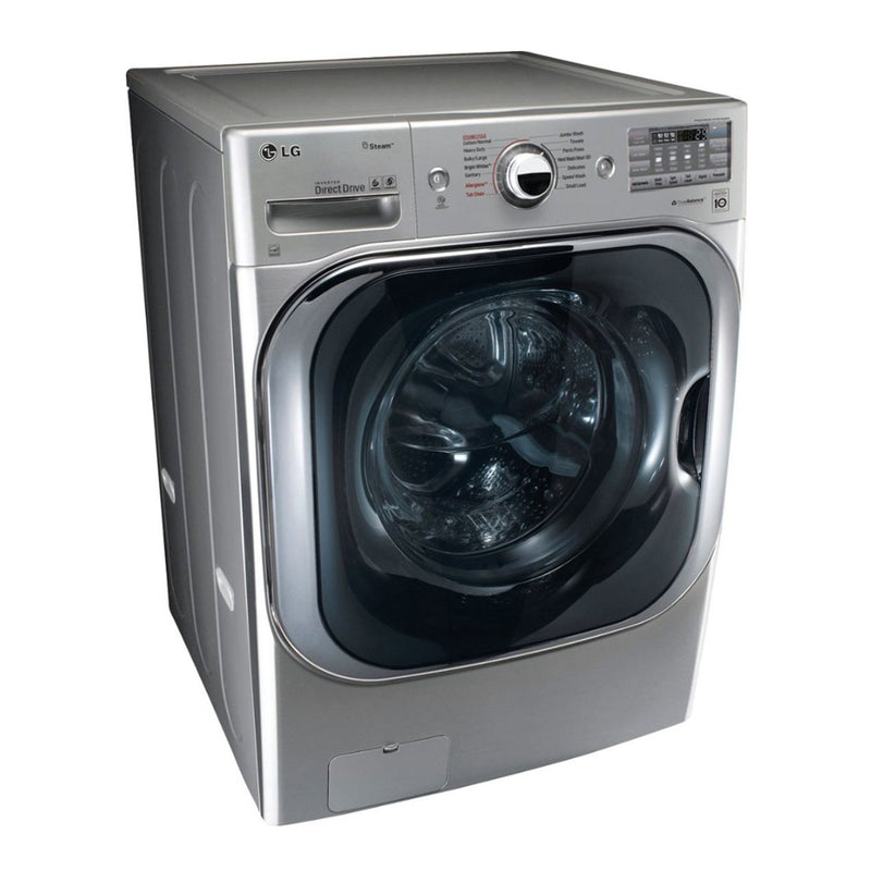 LG - 5.2 Cu. Ft. 14 Cycle Front Loading Washer - Graphite Steel