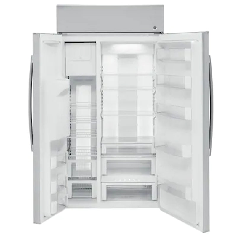 GE - Profile Series 24.3 Cu. Ft. Side by Side Built In Refrigerator - Stainless steel
