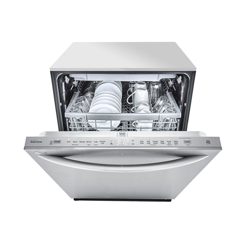 "LG - 24"" Top Control Built-In Dishwasher with Stainless Steel Tub - Stainless steel - Appliances Club"