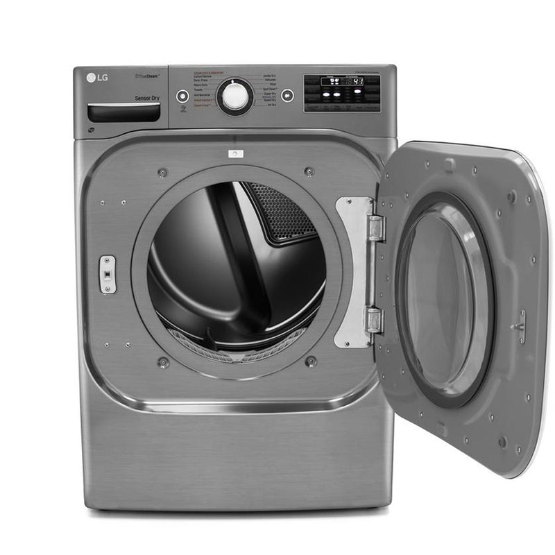 LG - 9.0 Cu. Ft. 14 Cycle Electric Dryer with Steam - Graphite Steel - Appliances Club