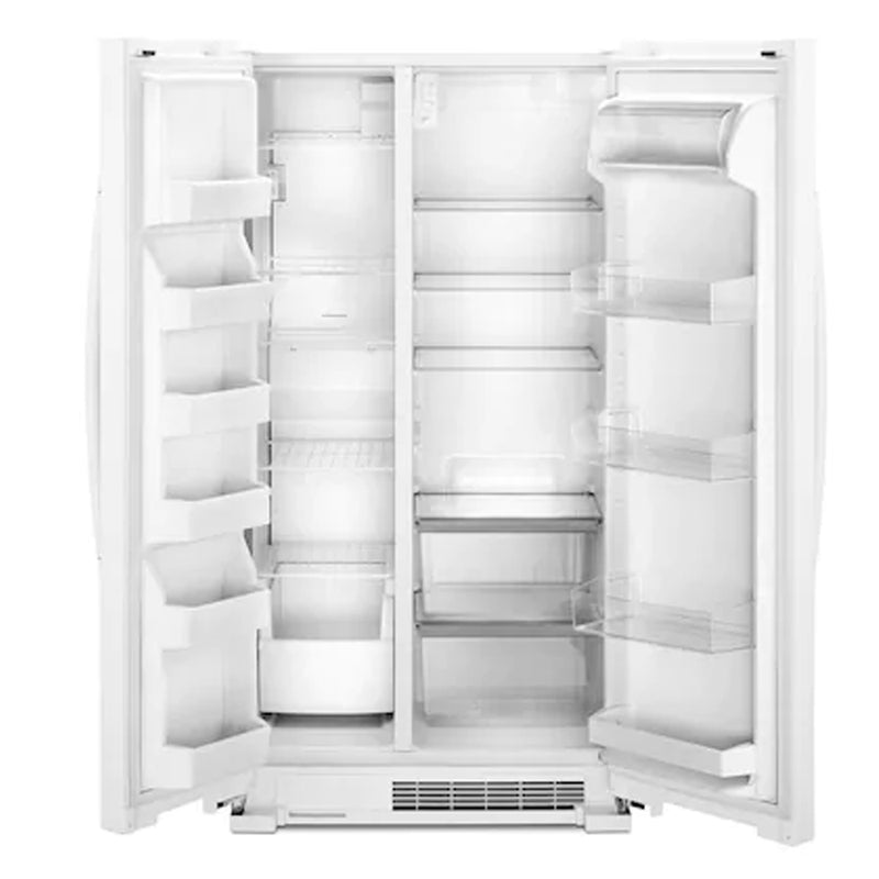 Whirlpool - 25.1 Cu. Ft. Side by Side Refrigerator - White