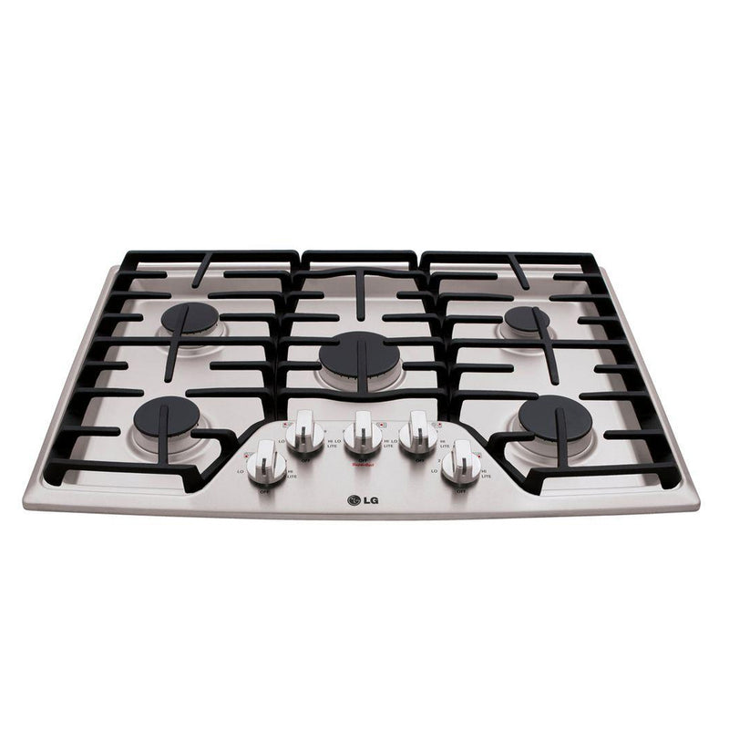 "LG - 30"" Built In Gas Cooktop - Stainless steel - Appliances Club"