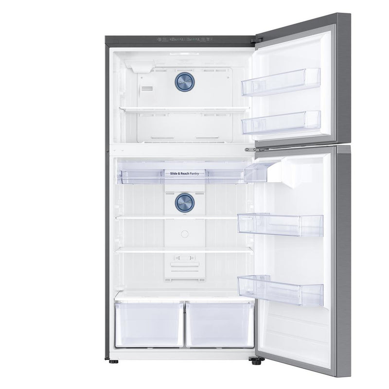 Samsung - 21.1 cu. ft. Top Freezer Refrigerator with FlexZone Freezer in Stainless - Stainless Steel