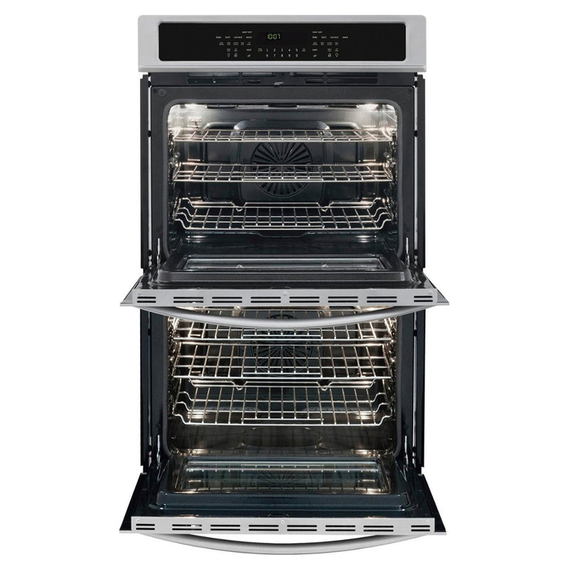 "Frigidaire - Gallery 30"" Built In Double Electric Convection Wall Oven - Stainless steel - Appliances Club"