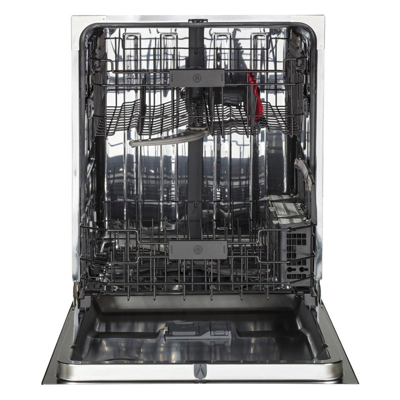 "GE - 24"" Built In Dishwasher - Black stainless steel - Appliances Club"