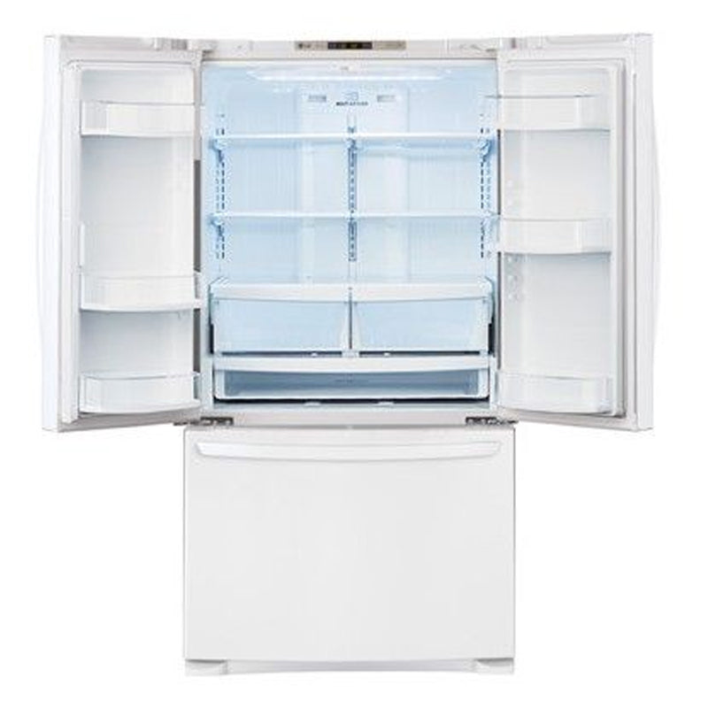 LG - 27.7 Cu. Ft. French Door Refrigerator - White