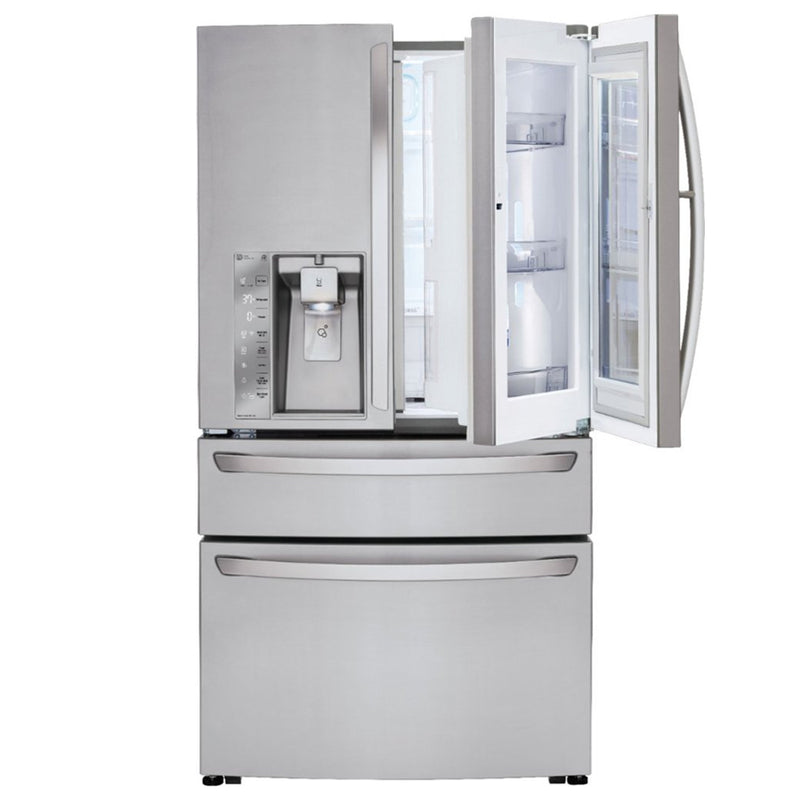 LG - 30 cu. ft. 4 Door French Door Smart Refrigerator with InstaView Door in Door and Wi-Fi Enabled - Stainless Steel - Appliances Club