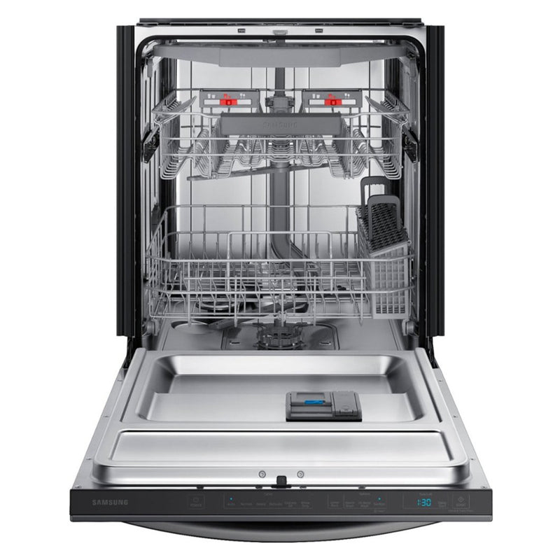 Samsung - StormWash 42 Decibel Built In Dishwasher - Fingerprint Resistant Black Stainless Steel