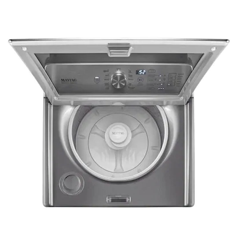 Maytag - 4.7 Cu. Ft. 11 Cycle High Efficiency Top Loading Washer - Metallic Slate