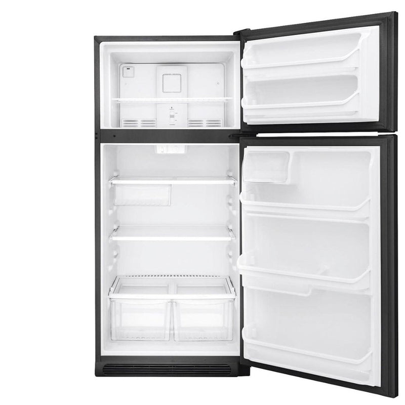Frigidaire - 18.1 Cu. Ft. Top Freezer Refrigerator - Black - Appliances Club